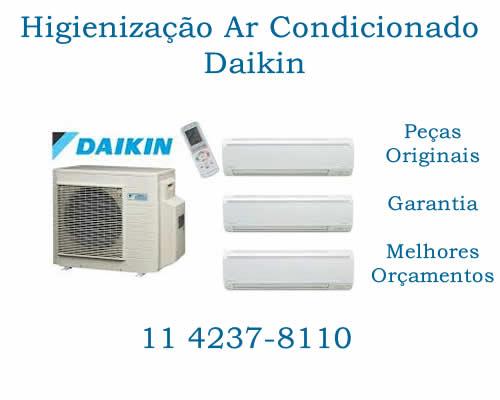 Higienização ar-condicionado Daikin