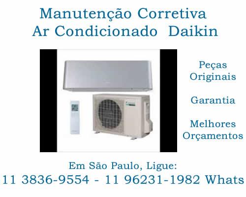 manutenção corretiva ar-condicionado Daikin