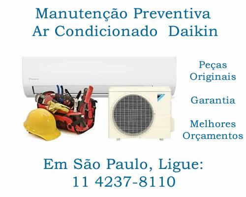 Manutenção preventiva ar-condicionado Daikin