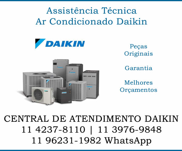 Assistência técnica ar-condicionado Daikin